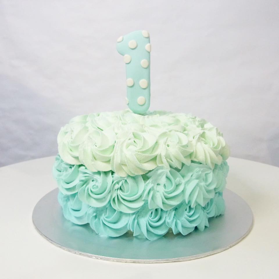 Ombre Rosette Smash Cake Corine And Cake