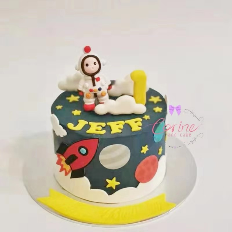 Stupendous Outer Space Cake Corine And Cake Funny Birthday Cards Online Sheoxdamsfinfo