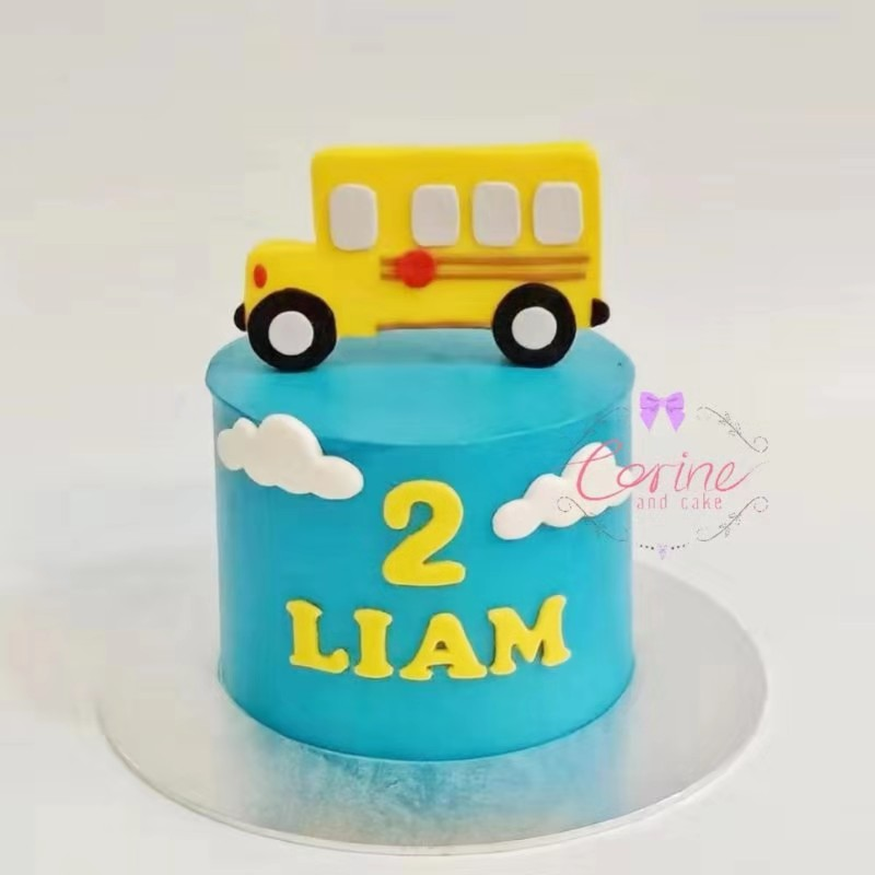 Superb Wheels On The Bus Corine And Cake Personalised Birthday Cards Cominlily Jamesorg