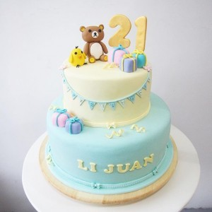 Rilakkuma 21st yeard old birthday cake