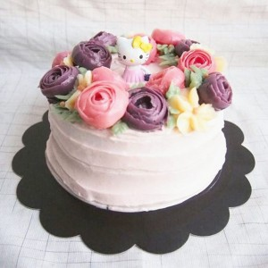 Butter cream flower cake