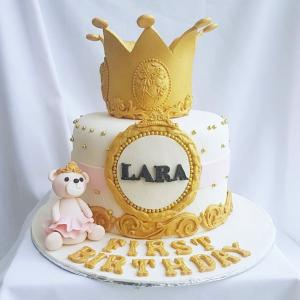 Gold Crown with bear cake