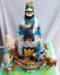 Clash Royale Game 2tier cake