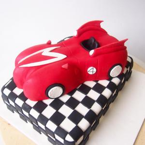 Red sport car cake